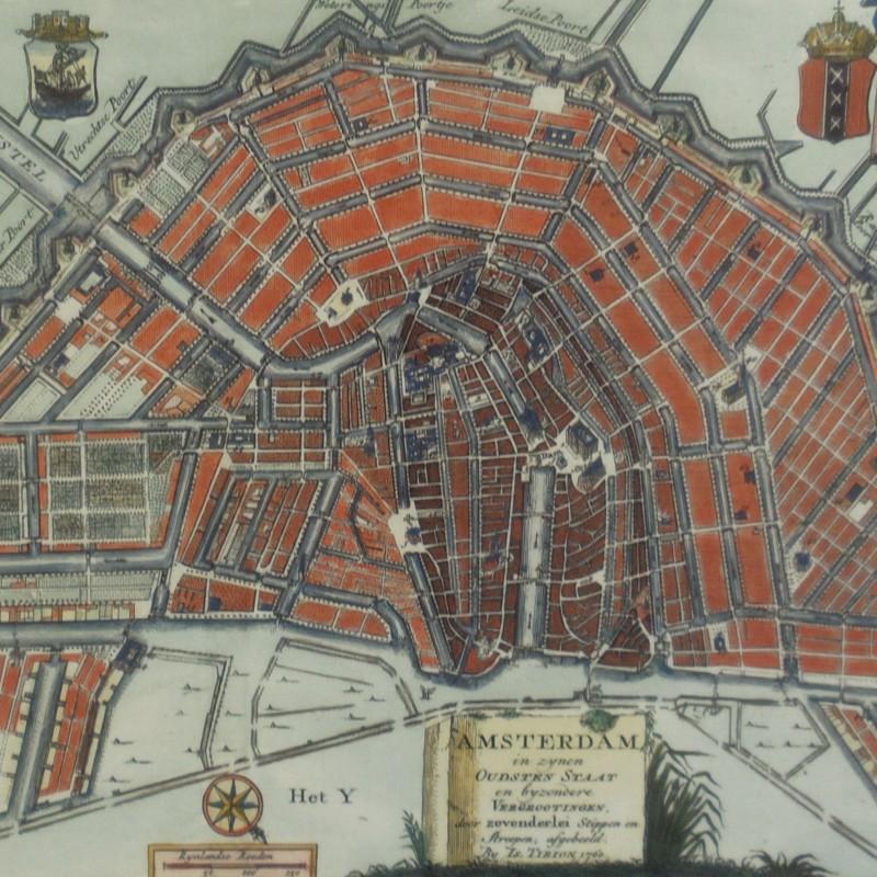 Antique Prints - Antique maps amsterdam