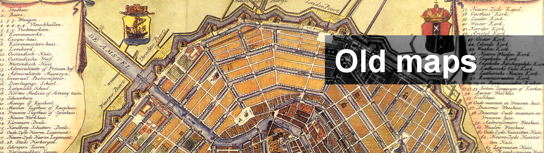 map of old Amsterdam
